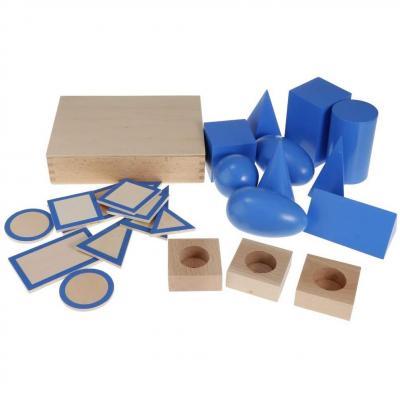 Petsola Ensemble De Blocs Solides Géométriques Montessori