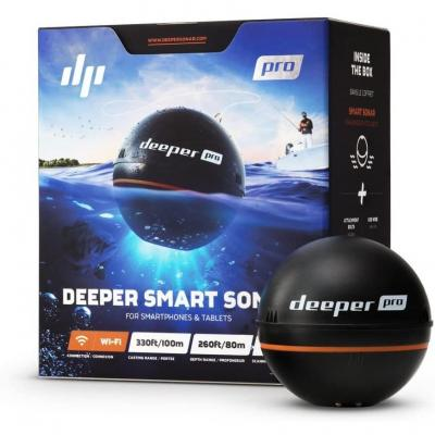 Deeper PRO Sondeur Portable  Sondeur pour Kayak ou Float Tube sans fil Wi-Fi