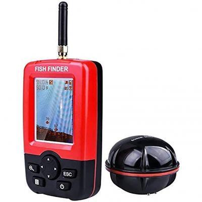 STARTOGOO Détecteur de Profondeur Portable Capteur de Sonar de Pêche Fishing Finder Wireless avec écran LCD