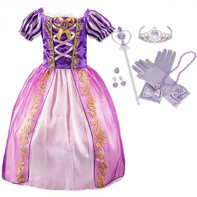 Iwfree Déguisement Fille Robe De Princesse Raiponce