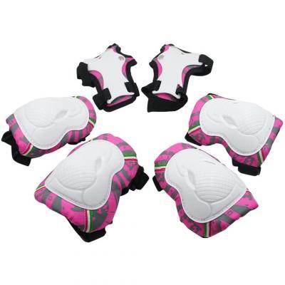 SKL 6 PCS Genouillère Coudière Protection Poignet Sets de Protection Fille pour Skateboard BMX Roller Patinage Vélo Bicyclette
