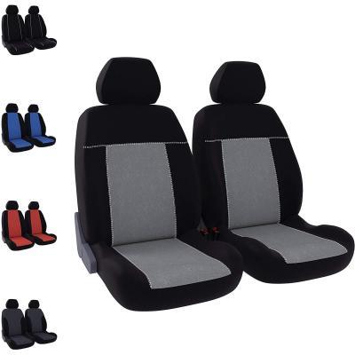 DBS, Housses de sièges, Voiture Auto, 2 sièges Avant, Noir + Gris, Universelles, Anti-dérapant, Lavable