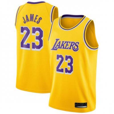SansFin Hommes Adulte Lebron James 23 Lakers Maillot Basketball Jersey Basket Maillots de Basket Uniforme Top Nouveau Tissu Brodé